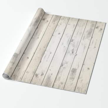 CyanSkyCelebrations Rustic Wood Shabby Chic Weathered Barn Boards Wrapping Paper