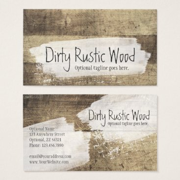 CyanSkyDesign Rustic Wood Shabby Grunge Vintage Painted Boards Business Card