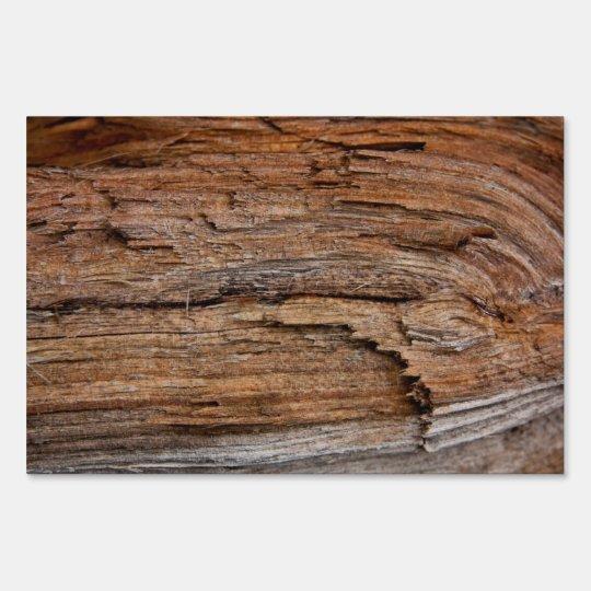 Rustic wood sign