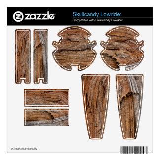 Rustic wood skins for skullcandy