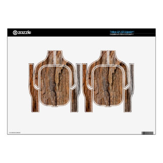 Rustic wood headset decal