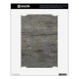Rustic wood skin for NOOK