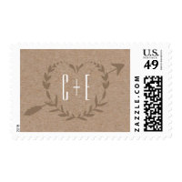 Rustic Wood Slice | Postage Stamp