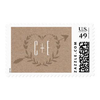 Rustic Wood Slice | Postage Stamp