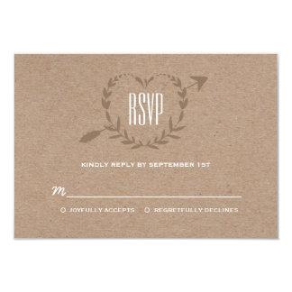 "Rustic Wood Slice | RSVP 3.5"" X 5"" Invitation Card"