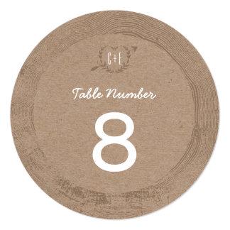 Rustic Wood Slice | Table Number
