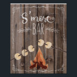 "rustic wood s&#39;more part wedding sign print<br><div class=""desc"">Chalkboard unplugged wedding print</div>"