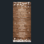 """Rustic Wood Snowflakes Winter Wedding Program<br><div class=""""desc"""">================= ABOUT THIS DESIGN ================= Rustic Wood Snowflakes Winter Wedding Program Card (1) For further customization, please click the &quot;Customize it&quot; button and use our design tool to modify this template. All text style, colors, sizes can be modified to fit your needs. (2) If you need help or matching items,...</div>"""