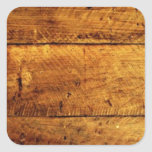 Rustic Wood Square Sticker