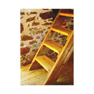Rustic Wood Steps Canvas