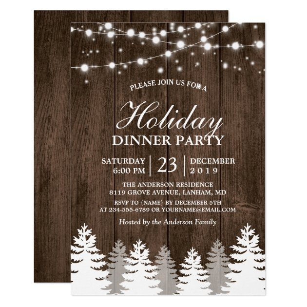 Holiday And Christmas Party Invitations