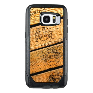 """USA Themed Rustic Wood Stripes Stamped with """"Made in USA"""" OtterBox Samsung Galaxy S7 Edge Case"""