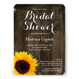 Country bridal shower invitations rustic country wedding invitations rustic wood sunflower bridal shower invitations custom invitations filmwisefo