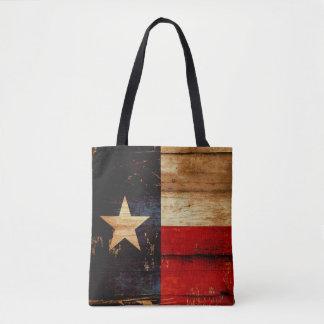 Rustic Wood Texas State Flag Grunge Look Tote Bag