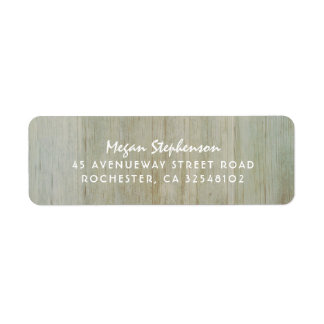 Rustic Wood Texture Image Wedding Label