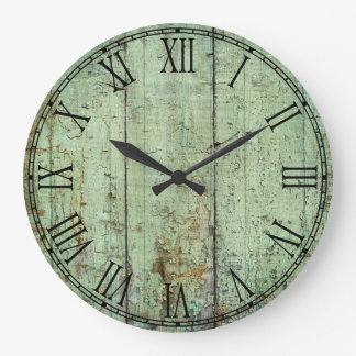 Rustic Wood Texture Large Clock