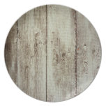 Rustic Wood Texture Party Plates