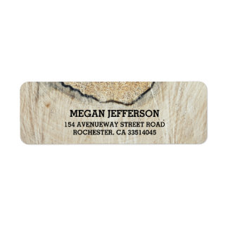 Rustic Wood Texture Wedding Label