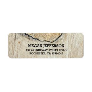 Rustic Wood Texture Wedding Label