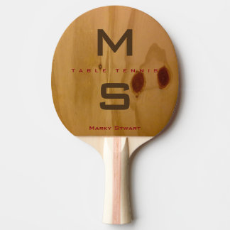 rustic wood texture / wooden grains with name Ping-Pong paddle