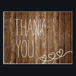"Rustic Wood Thank You Post Card<br><div class=""desc"">Rustic Wood Thank You Post Card</div>"