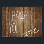 """Rustic Wood Thank You Post Card<br><div class=""""desc"""">Rustic Wood Thank You Post Card</div>"""