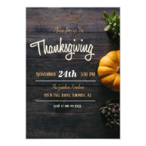 Rustic Wood Thanksgiving Card