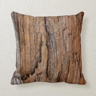 Rustic wood throw pillow