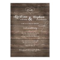 Rustic wedding invitations zazzle rustic wood tie the knot wedding invitation stopboris Choice Image