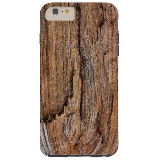 Rustic wood tough iPhone 6 plus case