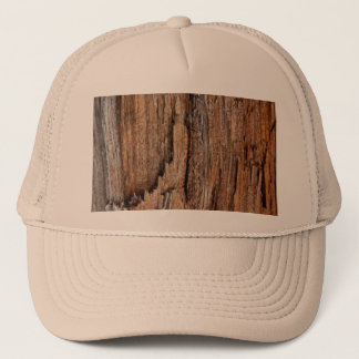 Rustic wood trucker hat