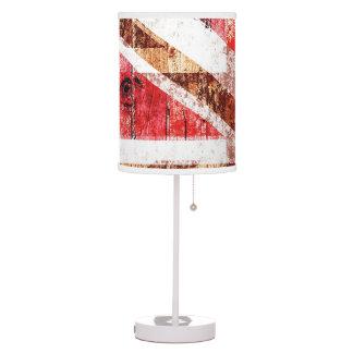 rustic wood union jack desk lamp