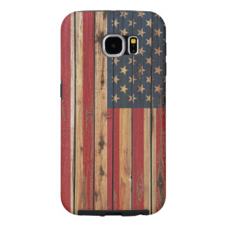 Rustic Wood United States Flag Samsung Galaxy S6 Cases