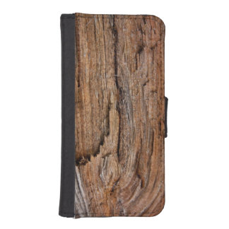 Rustic wood wallet phone case for iPhone SE/5/5s