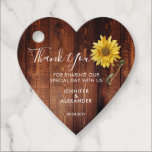 "Rustic wood watercolor sunflower wedding thank you favor tags<br><div class=""desc"">Rustic barn wood watercolor sunflower,  weddkng Thank you,  favor tag.