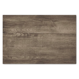 Rustic Wood Weathered Farmhouse Board Pattern Tissue Paper