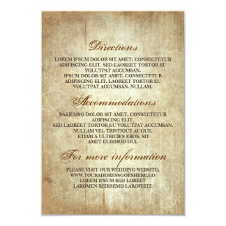 Rustic Wood Wedding Details - Information Card