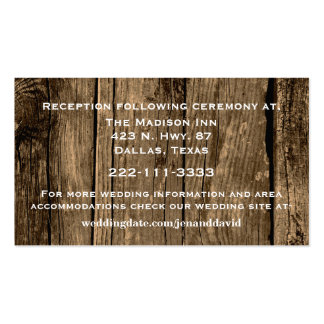 Rustic Wood Wedding Enclosure Card