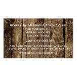 Rustic Wood Wedding Enclosure Card Business Cards