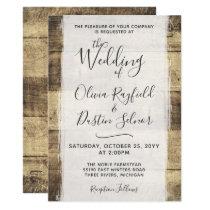 Rustic Wood Wedding Invitation | Country Farm Barn