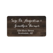 Rustic Wood Wedding Return Address Labels