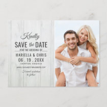 Rustic Wood Wedding Save the Date Decoupage