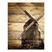 rustic wood western windmill Barn wedding Letterhead
