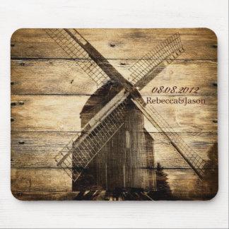 rustic wood western windmill Barn wedding Mouse Pad