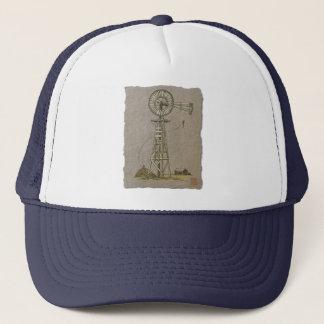 Rustic Wood Windmill Trucker Hat