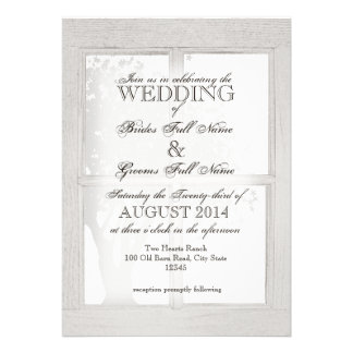 Rustic Wood Window Frame Announcement