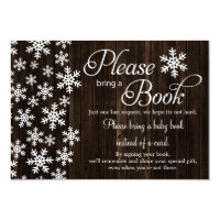 Rustic Wood Winter Baby Shower Bring A Book