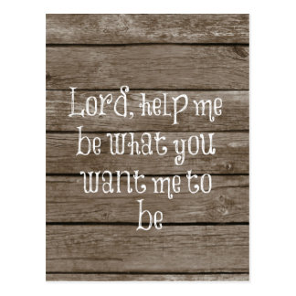 Rustic Wood with Christian Quote Postcard