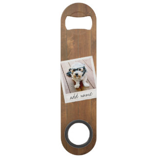 Rustic Wood with Square Photo Frame Bar Key