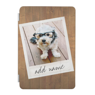 Rustic Wood with Square Photo Frame iPad Mini Cover